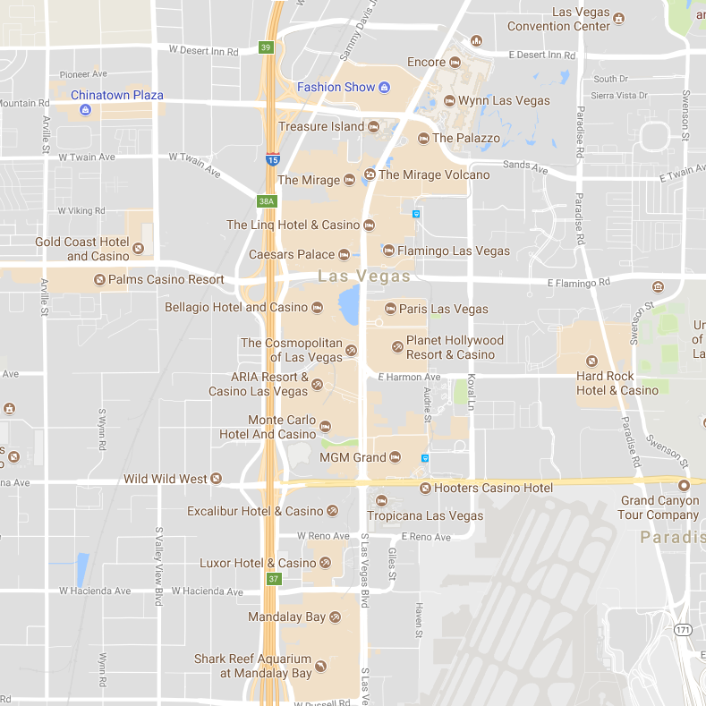 Map of las vegas strip public transportation